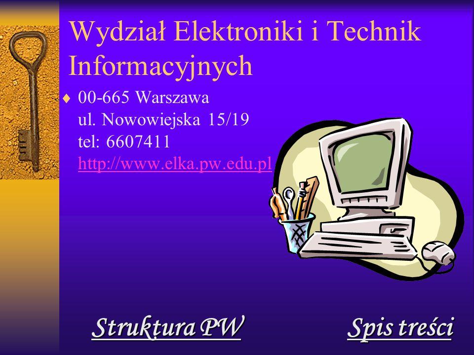 Wydział Elektroniki i Technik Informacyjnych  00-665 Warszawa ul.