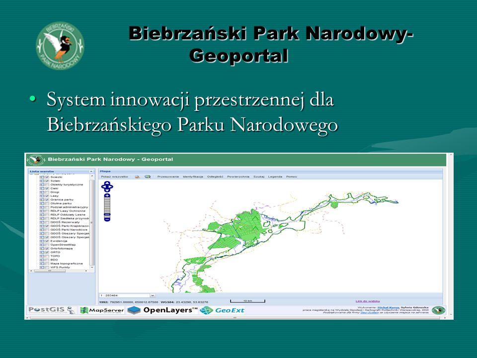 Biebrzański Park Narodowy- Geoportal Biebrzański Park Narodowy- Geoportal System innowacji przestrzennej dla Biebrzańskiego Parku NarodowegoSystem innowacji przestrzennej dla Biebrzańskiego Parku Narodowego