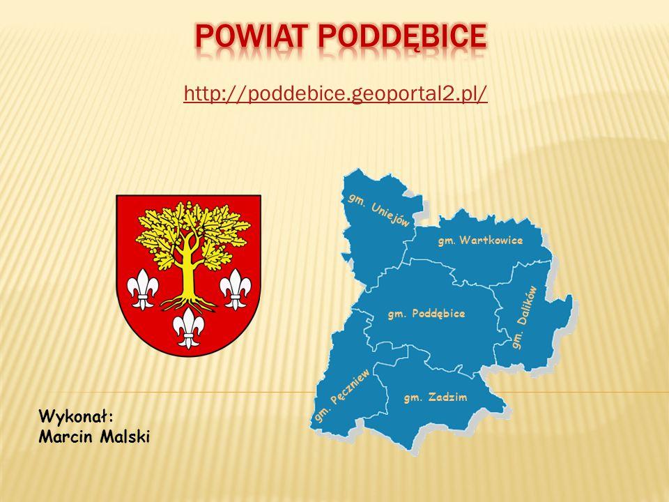 http://poddebice.geoportal2.pl/ Wykonał: Marcin Malski gm. Poddębice gm. Wartkowice gm. Uniejów gm. Pęczniew gm. Zadzim gm. Dalików