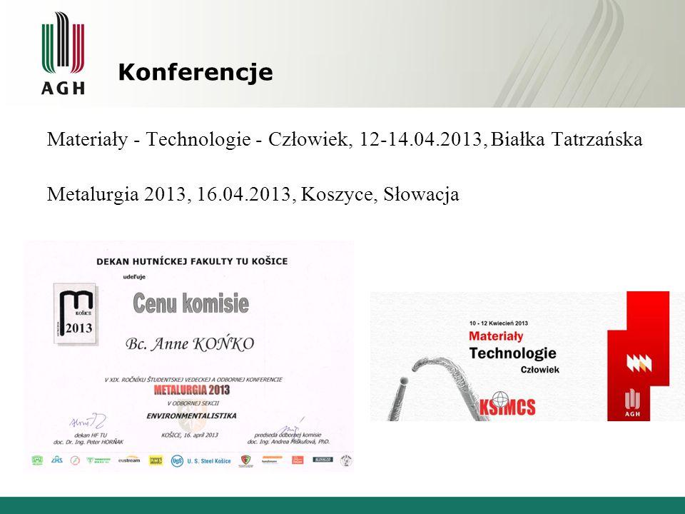 Organizacja konferencji XX International Student's Day of Metallurgy, Kraków www.isdm2013.agh.edu.pl