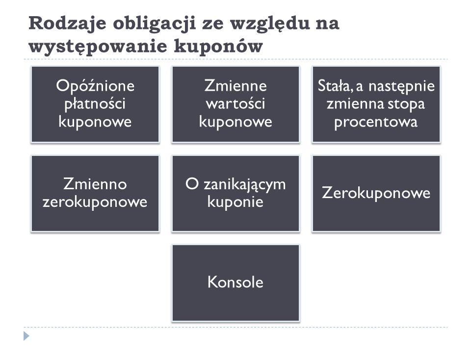Obligacje ze względu na waluty  Obligacje krajowe  Obligacje zagraniczne  Euroobligacje