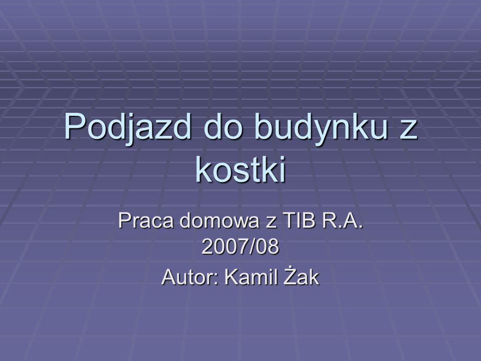 Podjazd do budynku z kostki Praca domowa z TIB R.A. 2007/08 Autor: Kamil Żak