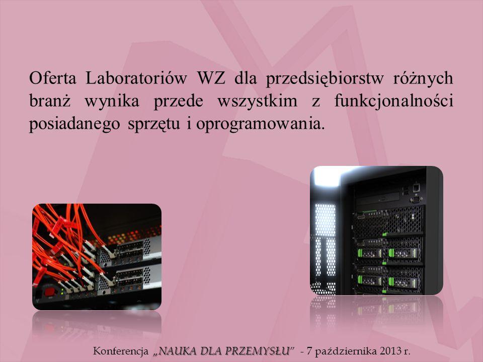 Oferta Laboratoriów WZ dla przedsiębiorstw różnych branż wynika przede wszystkim z funkcjonalności posiadanego sprzętu i oprogramowania.