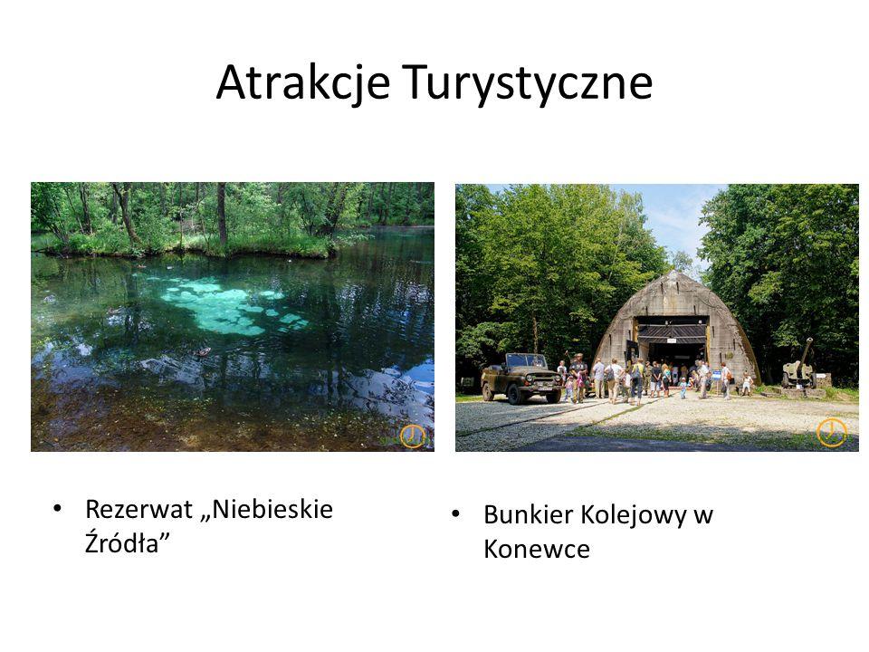 """Atrakcje Turystyczne Rezerwat """"Niebieskie Źródła"""" Bunkier Kolejowy w Konewce"""