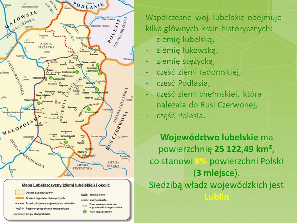 Wody powierzchniowe Całe województwo znajduje się w dorzeczu Wisły.