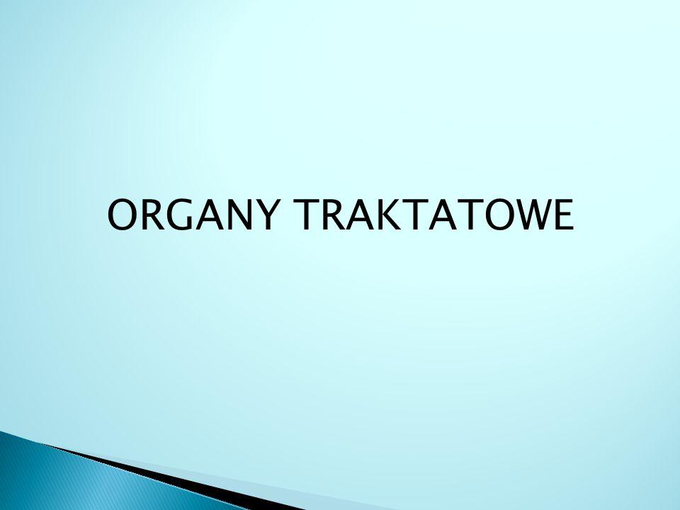 ORGANY TRAKTATOWE