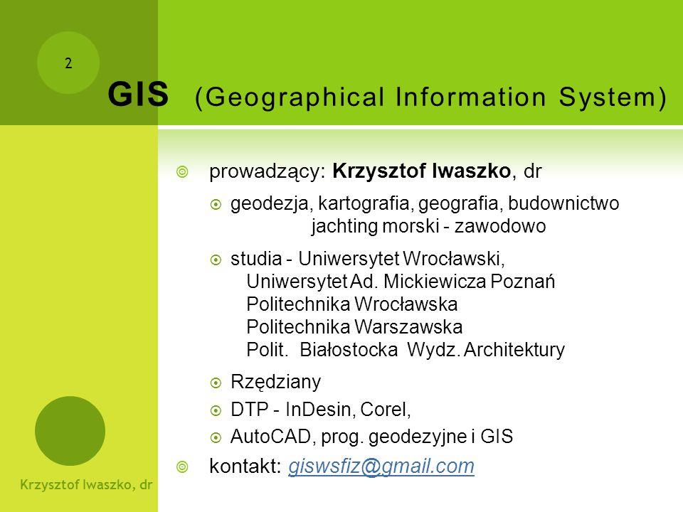 Krzysztof Iwaszko, dr 3 Gospodarka przestrzenna a GIS  Gospodarka Przestrzenna - definicja...