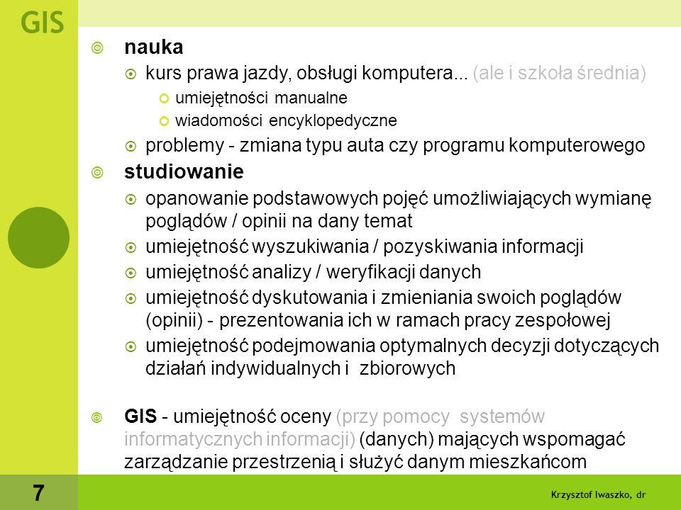 Krzysztof Iwaszko, dr 8 GIS