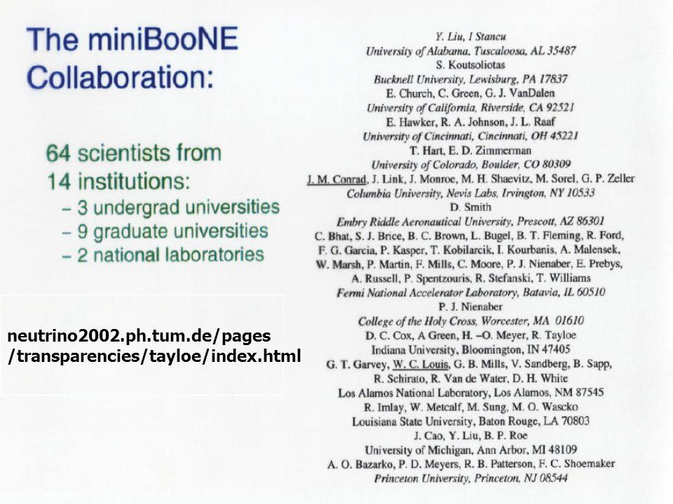 11 v neutrino2002.ph.tum.de/pages /transparencies/tayloe/index.html