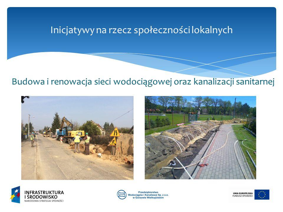 Inicjatywy na rzecz społeczności lokalnych Budowa i renowacja sieci wodociągowej oraz kanalizacji sanitarnej