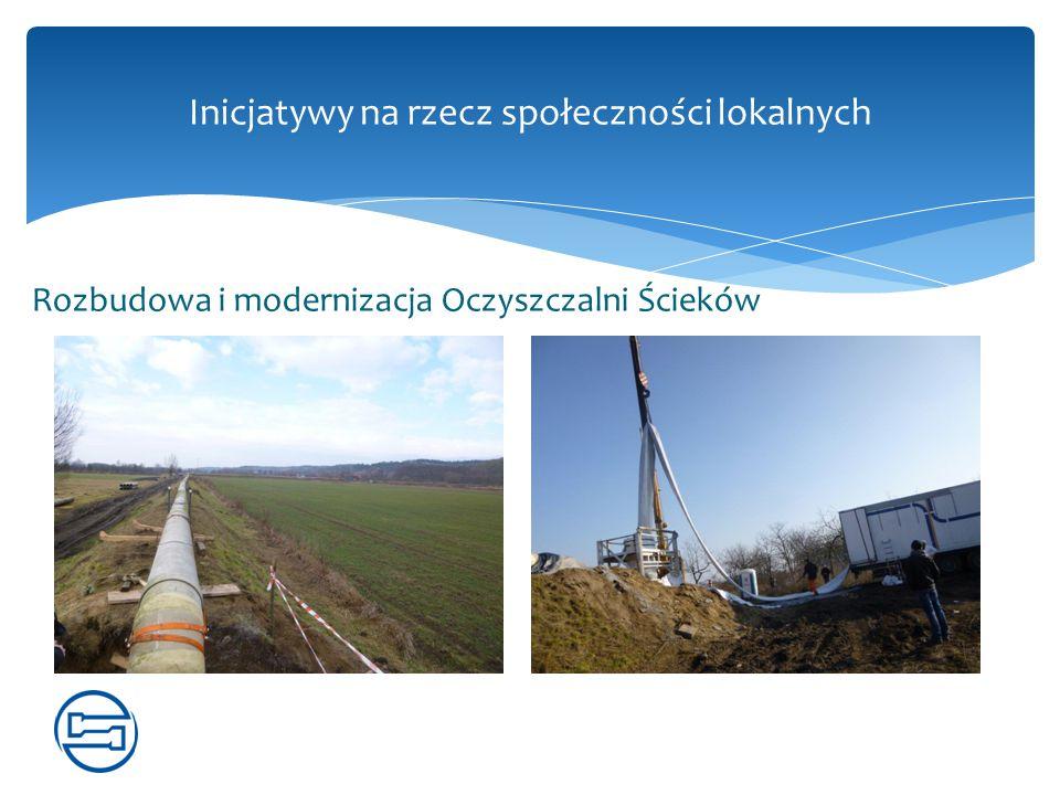 Rozbudowa i modernizacja Oczyszczalni Ścieków Inicjatywy na rzecz społeczności lokalnych