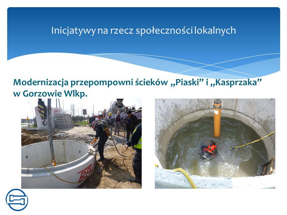 """Modernizacja przepompowni ścieków """"Piaski"""" i """"Kasprzaka"""" w Gorzowie Wlkp. Inicjatywy na rzecz społeczności lokalnych"""