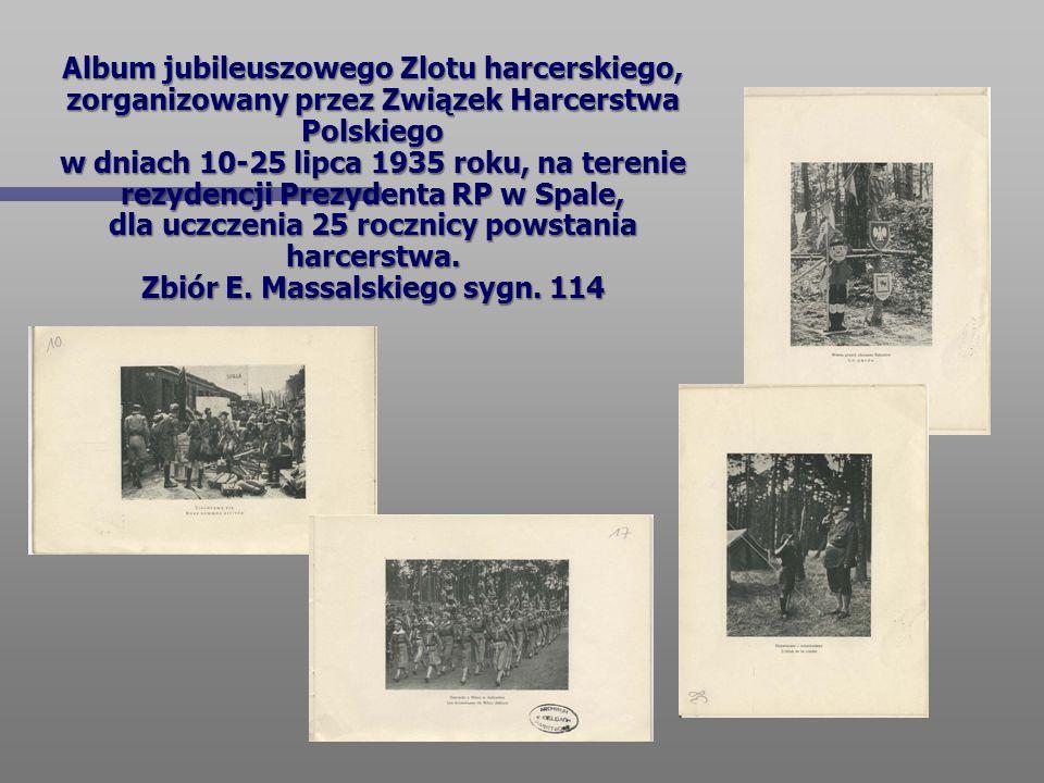 Album jubileuszowego Zlotu harcerskiego, zorganizowany przez Związek Harcerstwa Polskiego w dniach 10-25 lipca 1935 roku, na terenie rezydencji Prezyd