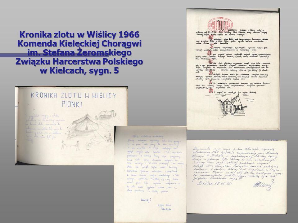 Kronika zlotu w Wiślicy 1966 Komenda Kieleckiej Chorągwi im. Stefana Żeromskiego Związku Harcerstwa Polskiego w Kielcach, sygn. 5