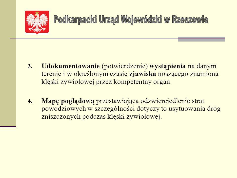 Komplet dokumentów winien zawierać: 1. Protokół strat zatwierdzony przez Wójta/ Burmistrza/ Prezydenta/ Starostę, sporządzony zgodnie z protokołem str