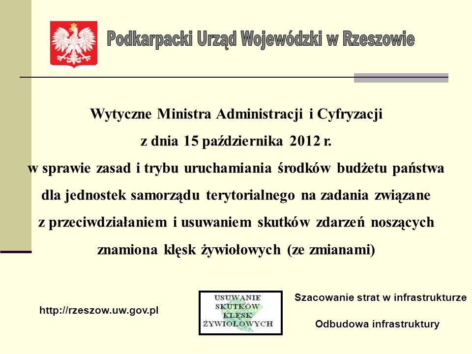 W przypadku nie dochowania powyższego obowiązku przesłany protokół szkód nie będzie rozpatrywany przez Wojewódzką Komisję ds.