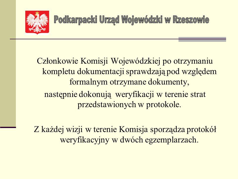 Województwo podkarpackie Informacja o stratach w infrastrukturze województwa, powiatu lub gminy dotkniętych klęską żywiołową.......................(ro