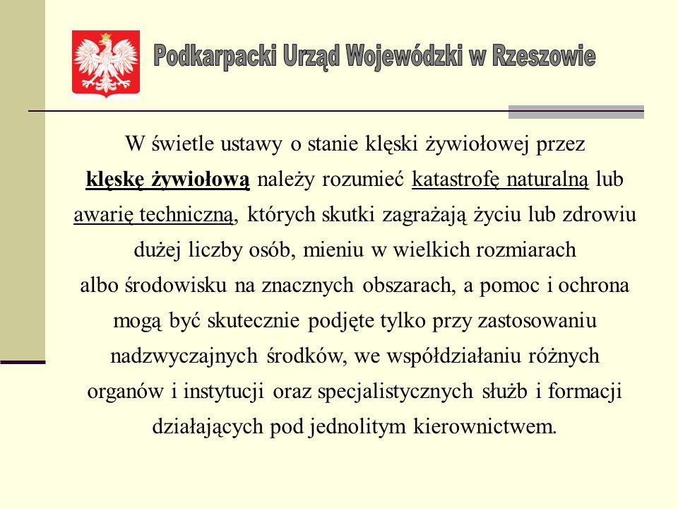 Zarządzenie Nr 59/2013 Wojewody Podkarpackiego z dnia 12 kwietnia 2013 r. w sprawie powołania Wojewódzkiej Komisji ds. weryfikacji strat i szkód spowo