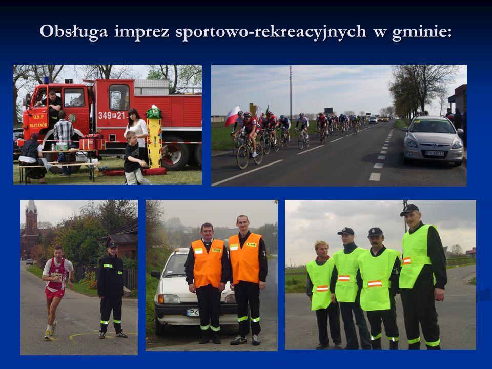 Obsługa imprez sportowo-rekreacyjnych w gminie: