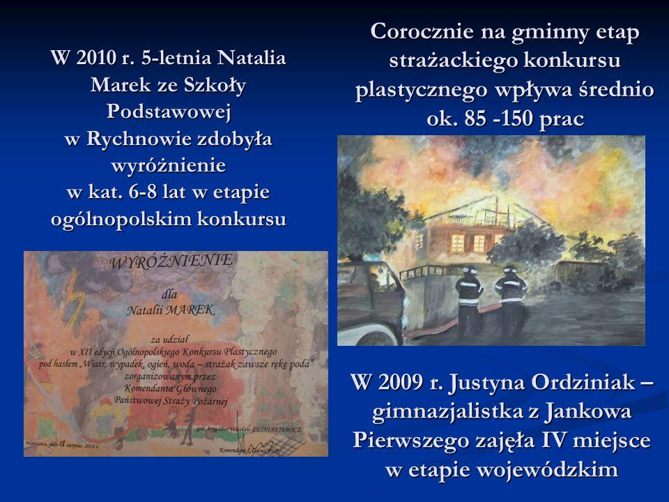 W 2010 r. 5-letnia Natalia Marek ze Szkoły Podstawowej w Rychnowie zdobyła wyróżnienie w kat. 6-8 lat w etapie ogólnopolskim konkursu W 2009 r. Justyn