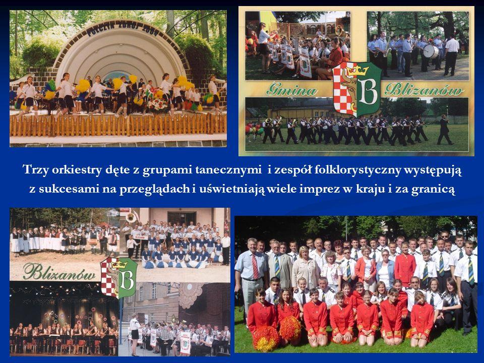 Trzy orkiestry dęte z grupami tanecznymi i zespół folklorystyczny występują z sukcesami na przeglądach i uświetniają wiele imprez w kraju i za granicą