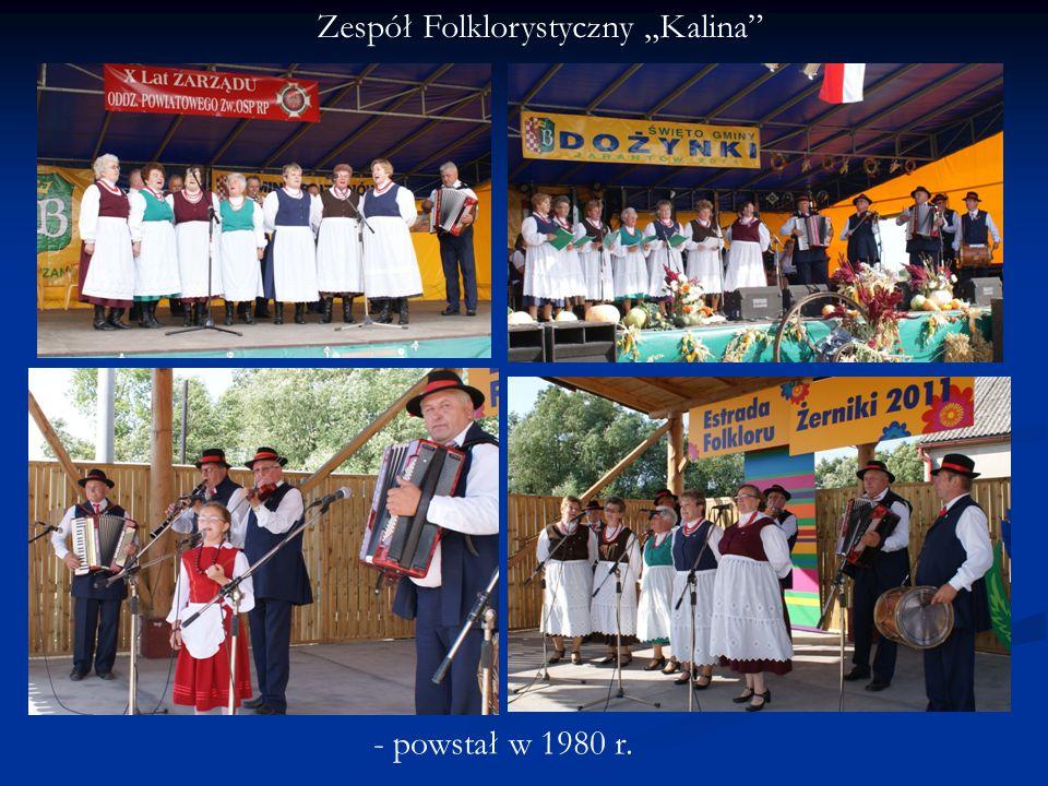 """Zespół Folklorystyczny """"Kalina - powstał w 1980 r."""