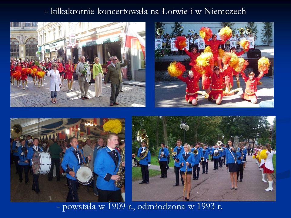 - kilkakrotnie koncertowała na Łotwie i w Niemczech - powstała w 1909 r., odmłodzona w 1993 r.