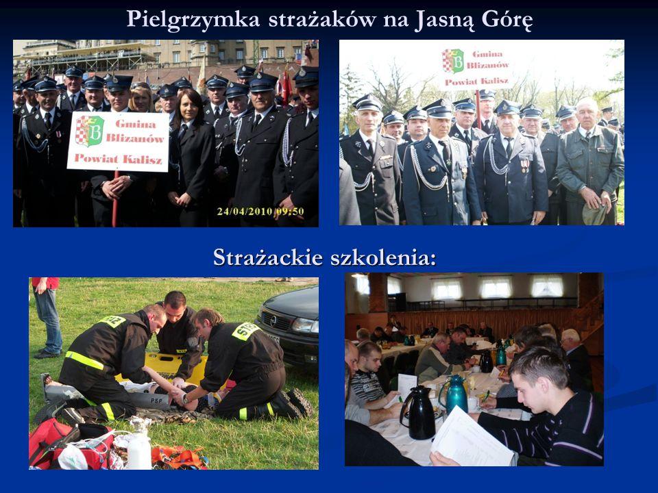 Pielgrzymka strażaków na Jasną Górę Strażackie szkolenia: