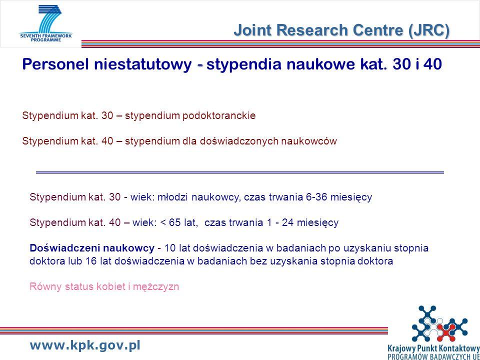 www.kpk.gov.pl - Personel niestatutowy - stypendia naukowe kat.