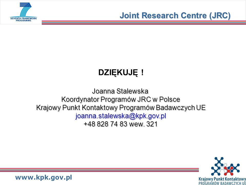 www.kpk.gov.pl Joint Research Centre (JRC) DZIĘKUJĘ .