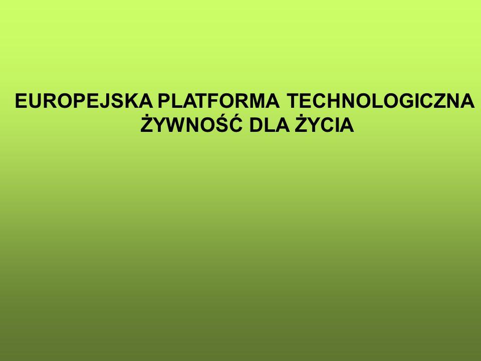 EUROPEJSKA PLATFORMA TECHNOLOGICZNA ŻYWNOŚĆ DLA ŻYCIA