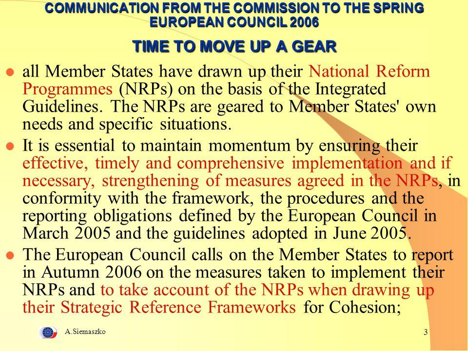 A.Siemaszko 44 KOMITET KOORDYNACYJNY POLSKICH PLATFORM TECHNOLOGICZNYCH KOMITETY PROBLEMOWE  Komitet Gospodarczy (cel: nawiązanie współpracy z instytucjami centralnymi)  Komitet Infrastruktury (cel: współpraca z ESFRI);  Komitet ds.