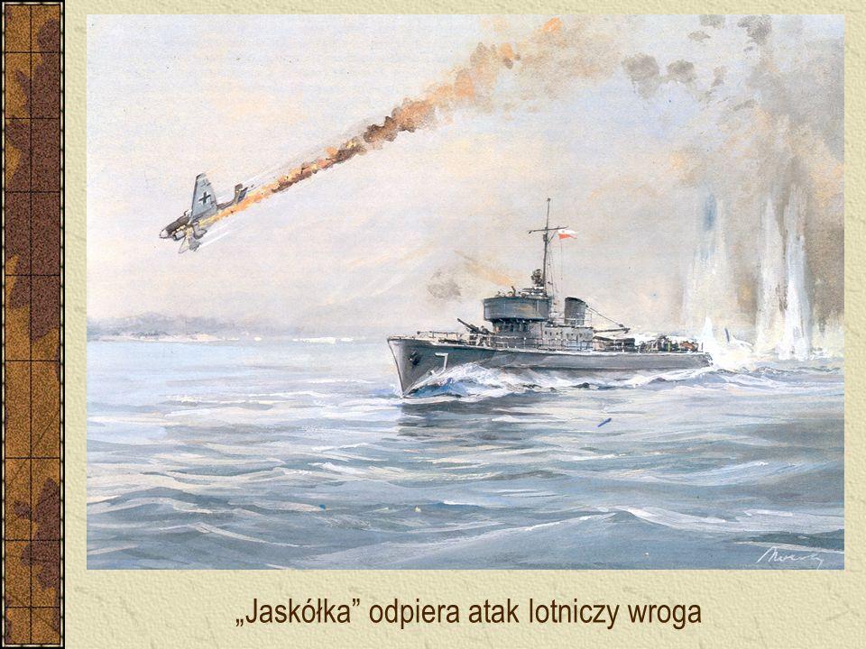"""""""Jaskółka"""" odpiera atak lotniczy wroga"""