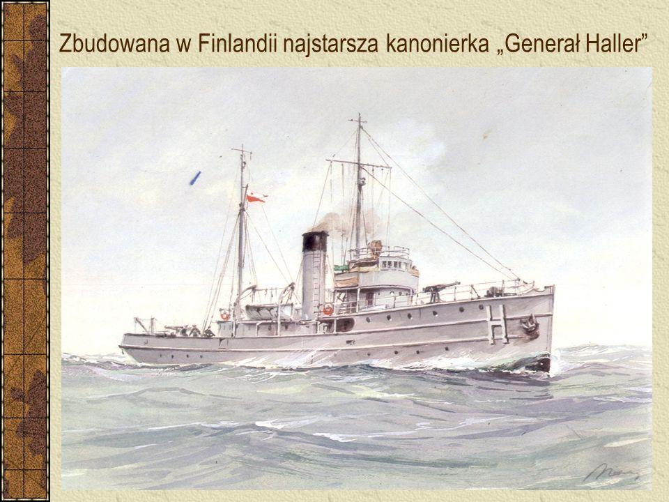 """Zbudowana w Finlandii najstarsza kanonierka """"Generał Haller"""""""