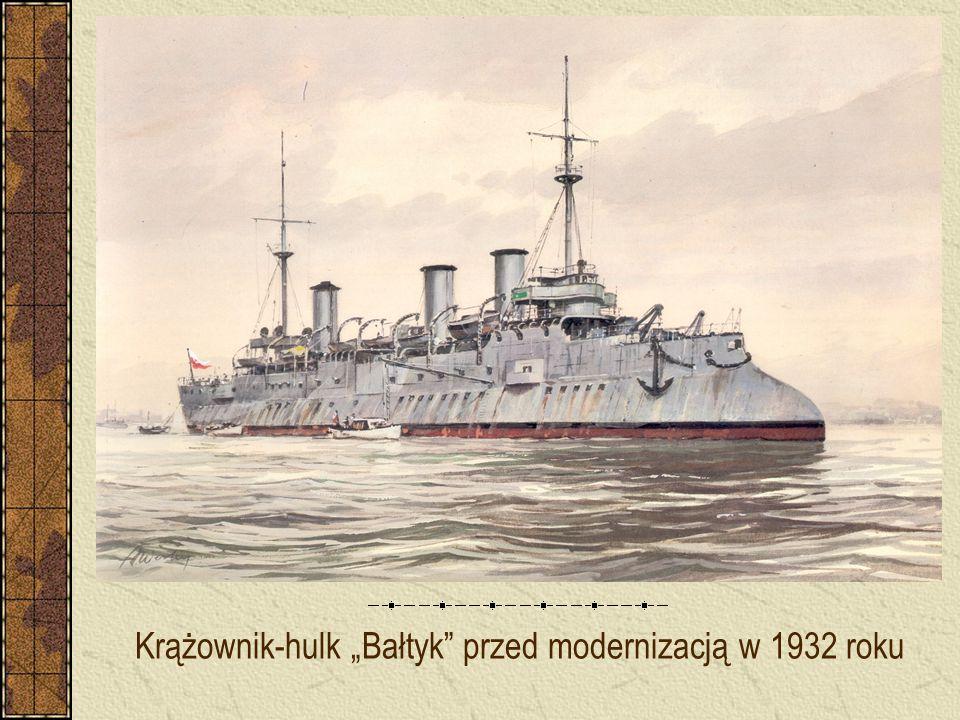 """Krążownik-hulk """"Bałtyk"""" przed modernizacją w 1932 roku"""