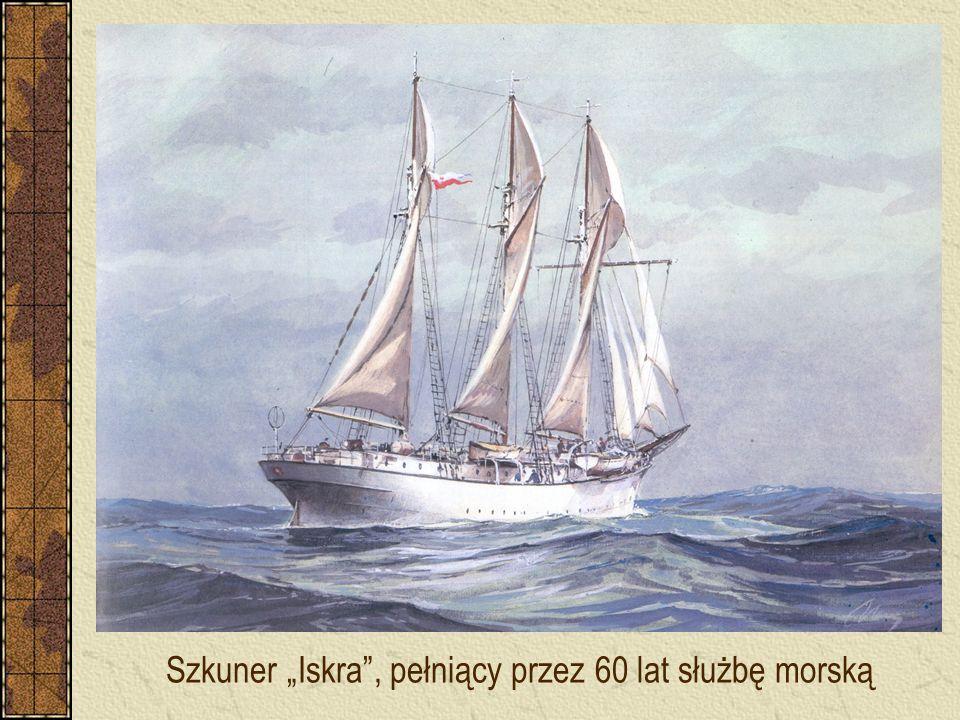 """Szkuner """"Iskra"""", pełniący przez 60 lat służbę morską"""