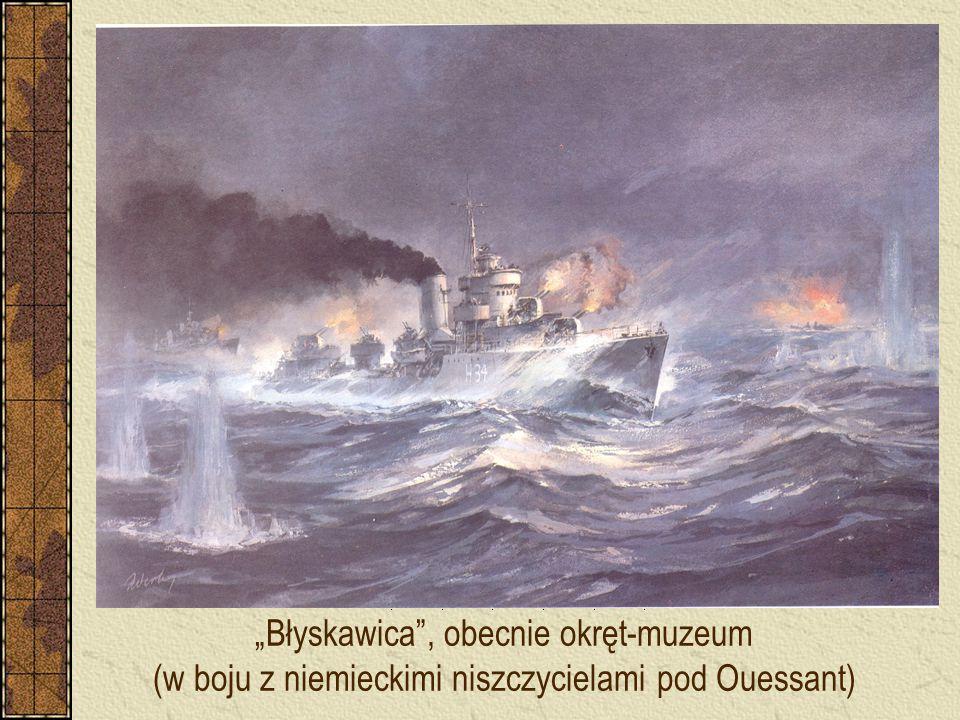 """""""Błyskawica"""", obecnie okręt-muzeum (w boju z niemieckimi niszczycielami pod Ouessant)"""