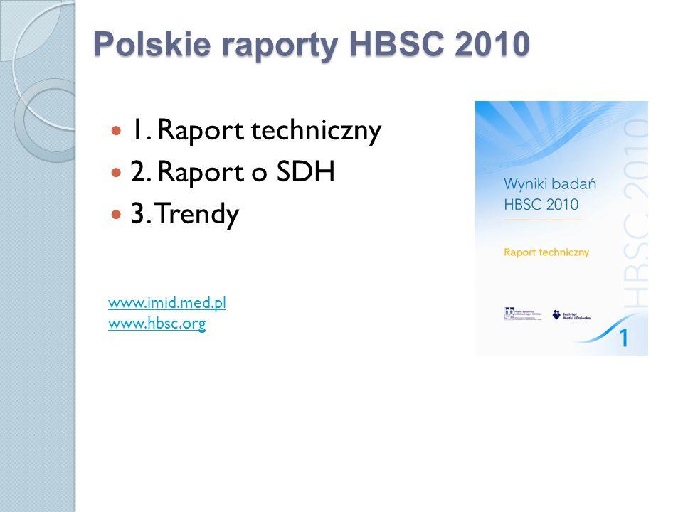 1.Raport techniczny 2. Raport o SDH 3.