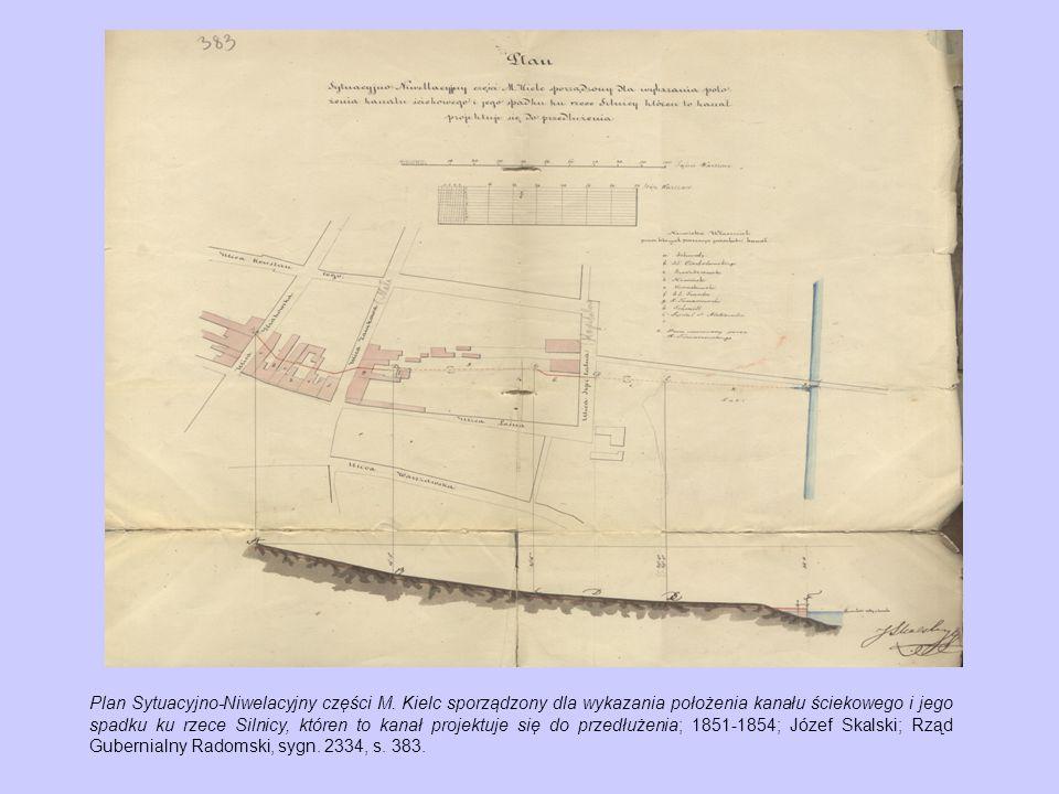 Począwszy od 1818 r.w Kielcach podejmowane były próby zaopatrzenia miasta w wodę.