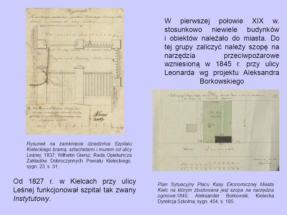 Projekt przeistoczenia Stajni w Zamku po Biskupim w Mieście Kielcach na pomieszczenie Instytutu Ochrony Ubogich Dzieci w ilości głów 40; 1847; Józef Łukański; Rząd Gubernialny Radomski, sygn.