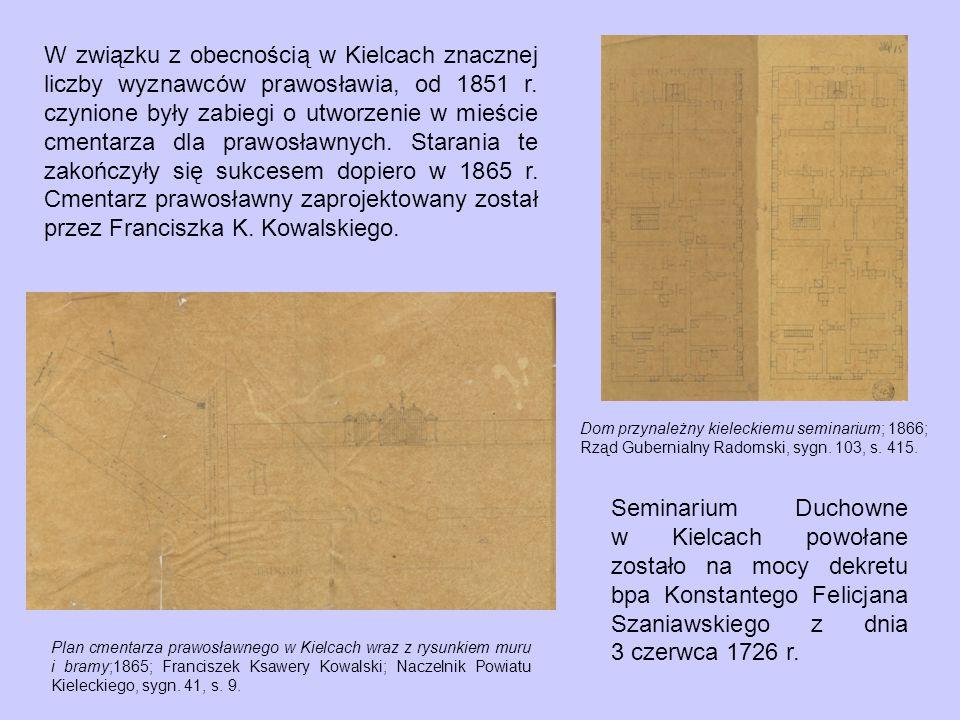 W związku z obecnością w Kielcach znacznej liczby wyznawców prawosławia, od 1851 r.