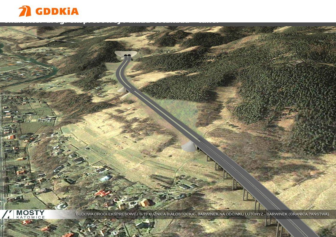 Generalna Dyrekcja Dróg Krajowych i Autostradwww.gddkia.gov.pl DROGA EKSPRESOWA S-19 Charakter drogi ekspresowej : układ estakada - tunel