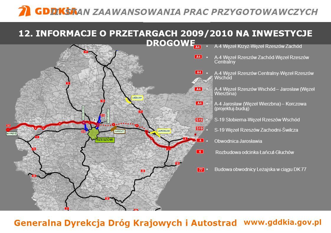 """Generalna Dyrekcja Dróg Krajowych i Autostradwww.gddkia.gov.pl - długość: 4,5 km - klasa: GP, nośność: 115 kN/oś - ilość węzłów: 2, ilość obiektów inż.: 3 - koszty: 167,1 mln zł - finansowanie: 100% budżet - lata realizacji: 2008-2009 - umowa: podpisana 30.05.200 8 - Wykonawca: Konsorcjum: Lider: PHBD """"DROGBUD Sp."""