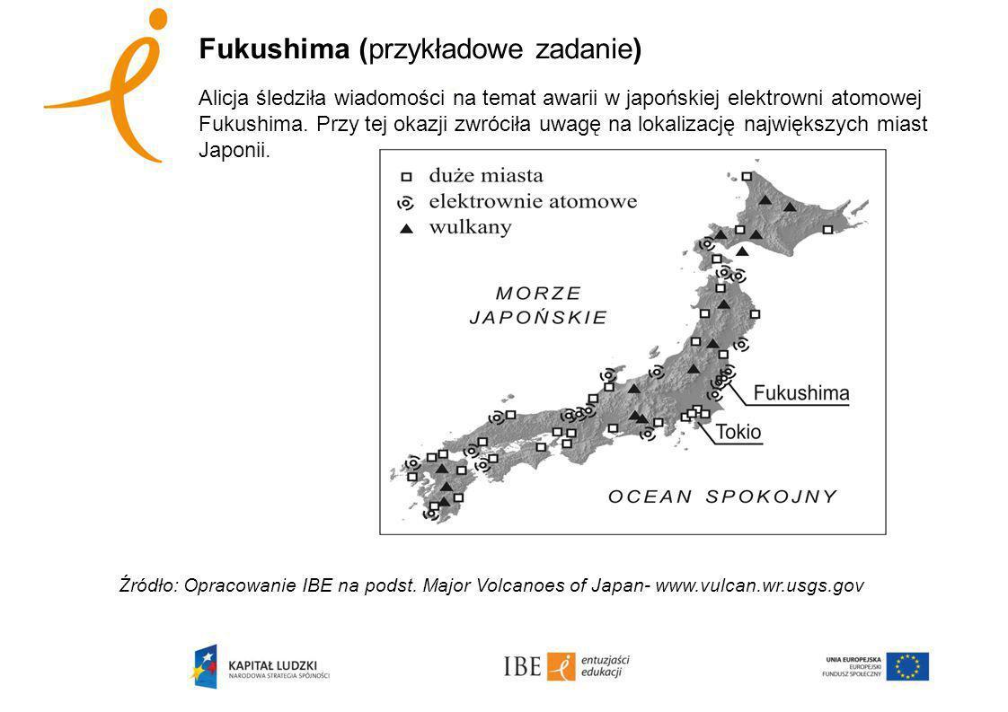 Fukushima (przykładowe zadanie) Alicja śledziła wiadomości na temat awarii w japońskiej elektrowni atomowej Fukushima.