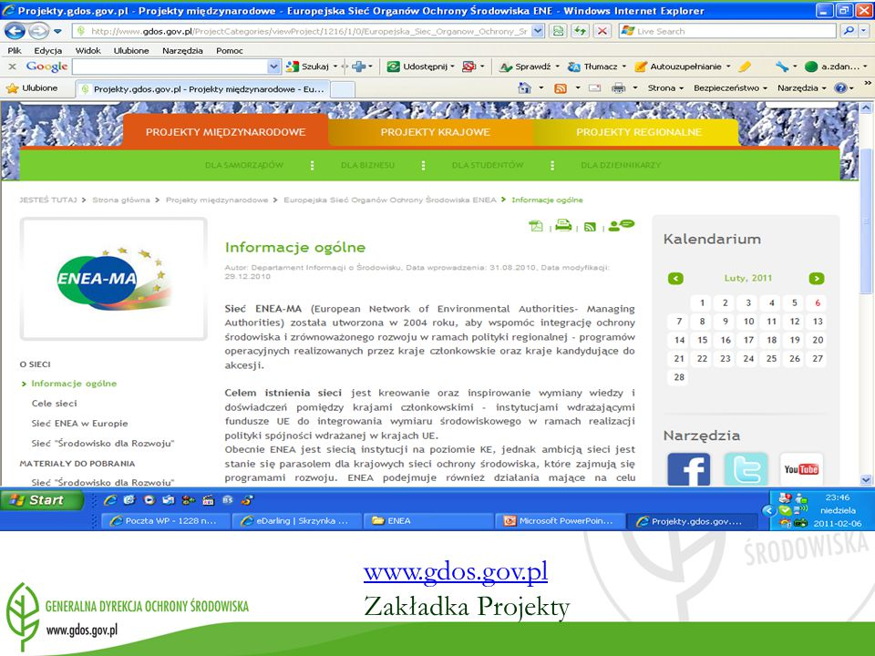 www.gdos.gov.pl Zakładka Projekty