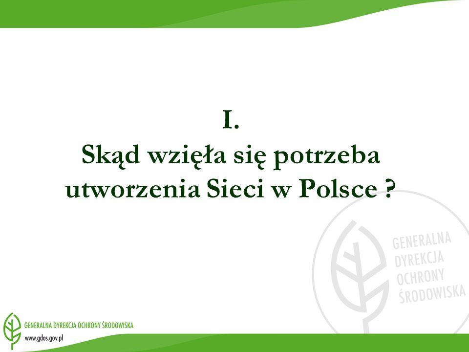I. Skąd wzięła się potrzeba utworzenia Sieci w Polsce ?