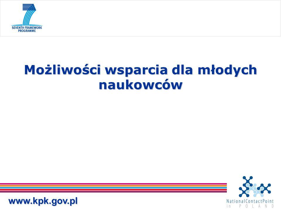 www.kpk.gov.pl Możliwości wsparcia dla młodych naukowców