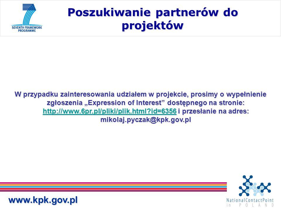 """W przypadku zainteresowania udziałem w projekcie, prosimy o wypełnienie zgłoszenia """"Expression of Interest"""" dostępnego na stronie: http://www.6pr.pl/p"""