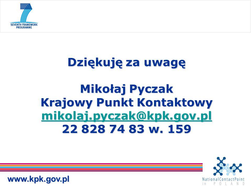 www.kpk.gov.pl Dziękuję za uwagę Mikołaj Pyczak Krajowy Punkt Kontaktowy mikolaj.pyczak@kpk.gov.pl 22 828 74 83 w. 159 mikolaj.pyczak@kpk.gov.pl