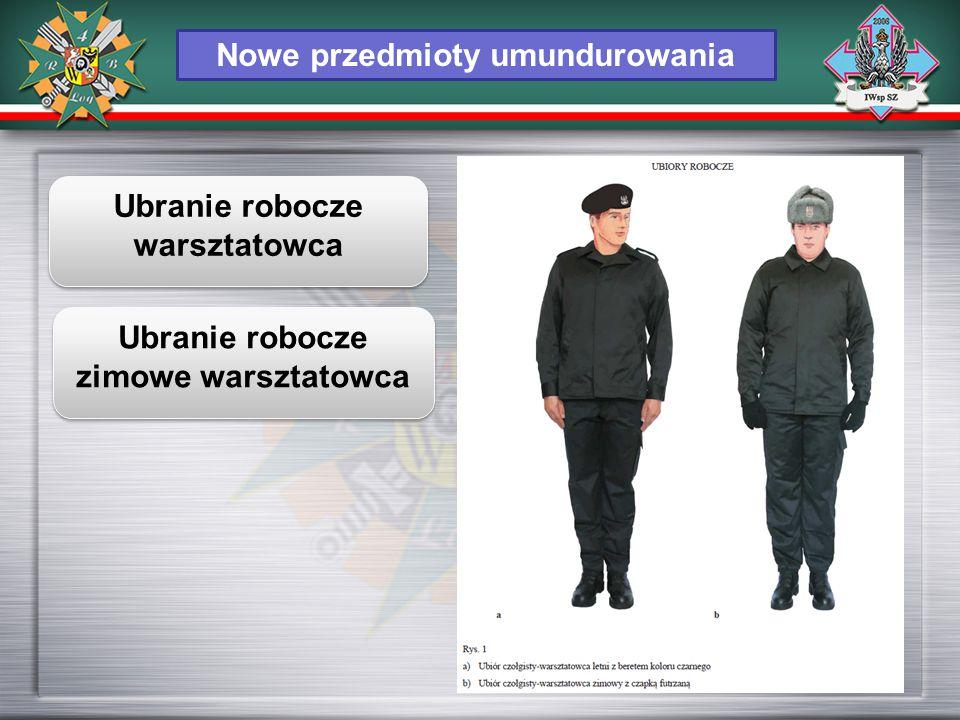 Nowe przedmioty umundurowania Ubranie robocze warsztatowca Ubranie robocze zimowe warsztatowca
